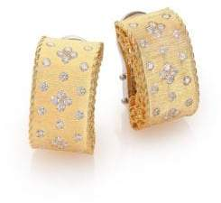 Roberto Coin Princess Diamond& 18K Yellow Gold Drop Earrings