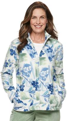Alfred Dunner Petite Studio Floral Fleece Jacket