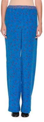 Marni Wide-Leg Printed Silk Pajama Pants