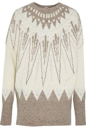 ADAM by Adam Lippes Merino Wool And Cashmere-Blend Jacquard Sweater