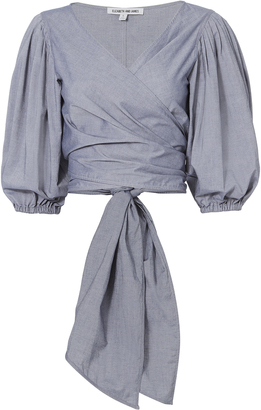 Elizabeth and James Farrah Tie Wrap Top $275 thestylecure.com