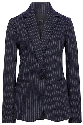 Banana Republic Petite Unstructured Pinstripe Stretch-Knit Blazer