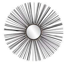 DecMode Decmode Contemporary 28 Inch Iron Sunburst Wall Mirror