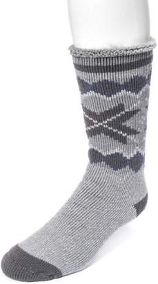 Muk Luks Men's Heat-Retainer Socks