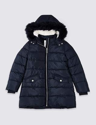 """Marks and Spencer Long Padded Coat with Stormwearâ""""¢ (3-16 Years)"""