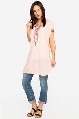 Johnny Was Downing Linen Tunic Dress