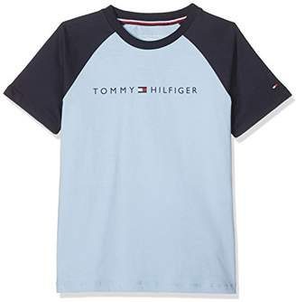 Tommy Hilfiger Boy's Ss Raglan Pyjama Set,(128/140cm)