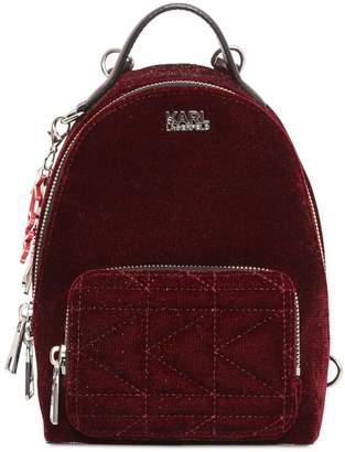 Karl Lagerfeld Kaia X Glitter Velvet Mini Backpack