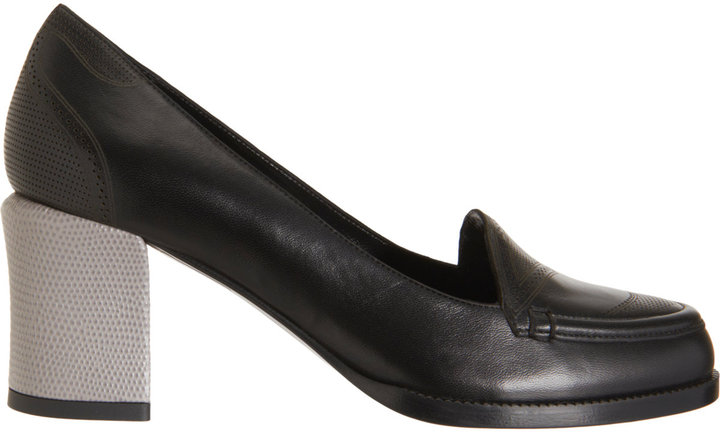 Fendi Perforated Loafer Pump