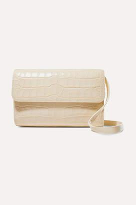 BY FAR Cross-over Croc-effect Leather Shoulder Bag