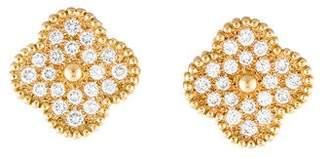 Van Cleef & Arpels Diamond Super Alhambra Earrings