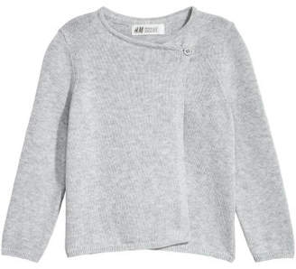 H&M Wrap-front Cardigan - Gray