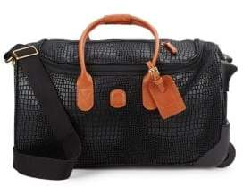"""Bric's 21"""" Embossed Carry-On Duffel Bag"""