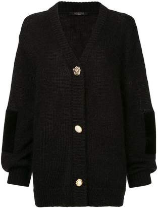 Mother of Pearl oversized pearl-embellished cardigan