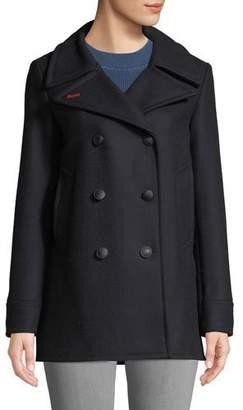 Rag & Bone Nella Double-Breasted Wool Pea Coat