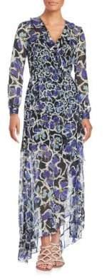 Sachin + Babi Elaine Ruffled Floral Print Gown