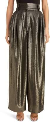 Marc Jacobs High Waist Wide Leg Sequin Pants