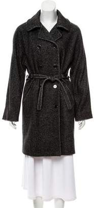 Dolce & Gabbana Double-Breasted Wool-Angora Coat