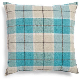 Made In Usa 24x24 Oversized Plaid Pillow
