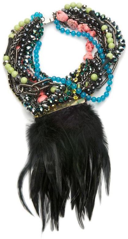 Fenton Exclusive Feather Bib Necklace
