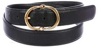 Gucci Gold-Tone Leather Belt