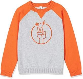 Kid Nation Kids'' Crewneck Long-Sleeve Flocked Pullover Sweater for Boys or Girls