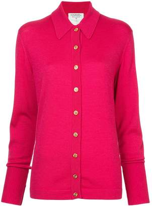 Chanel Pre-Owned classic collar buttoned cardigan