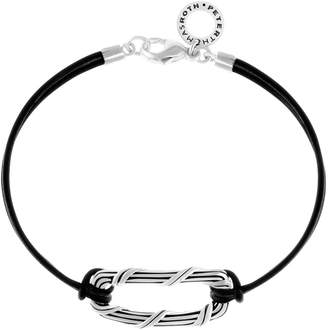 Peter Thomas Roth Sterling Ribbon and Reed Leather Bracelet