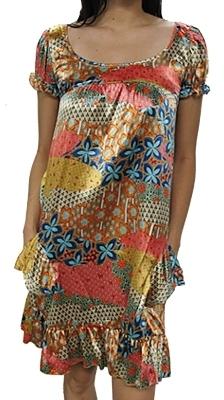 Paris Hilton - Women's Multi-Colored Patchwork Dress