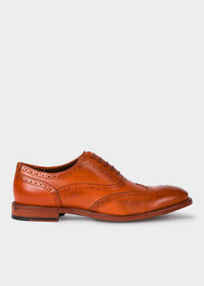 Paul Smith Men's Tan Leather 'Munro' Flexible Travel Brogues