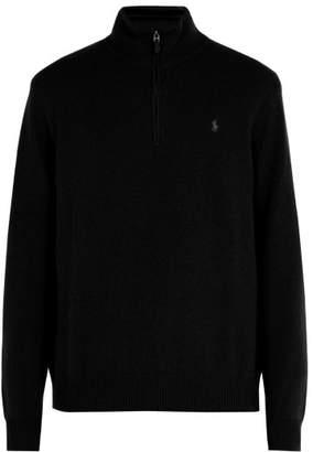 Polo Ralph Lauren Logo Embroidered Wool Blend Sweater - Mens - Black