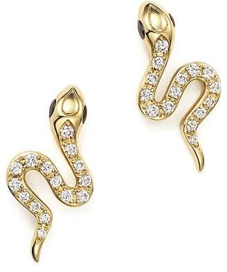 Bloomingdale's Diamond Snake Stud Earrings in 14K Yellow Gold, .23 ct. t.w.