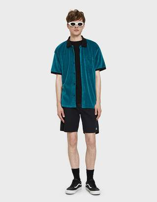 Obey Catalina Button Up Box Polo in Teal