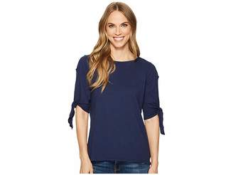 Allen Allen Tie Sleeve Top Women's Clothing