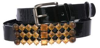 Marni Patent Leather Embellished Belt