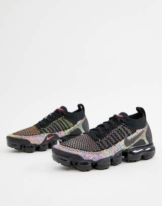 Nike Running Vapormax Flyknit Sneakers In Black And Blue