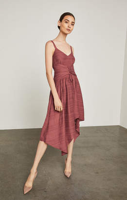 BCBGMAXAZRIA Lace-Up Asymmetrical Dress