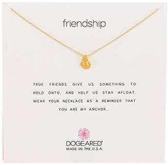 Dogeared Reminders-Friendship -Dipped Sterling Silver Anchor Pendant Necklace