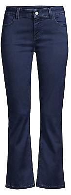 Piazza Sempione Women's Cropped Flare Cuff Jeans