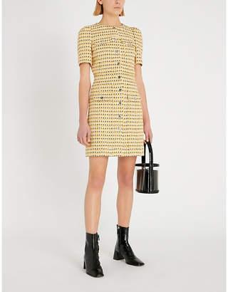 Maje Tweed-woven mini dress