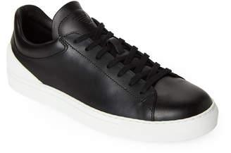Emporio Armani Black & White Leather Low-Top Sneakers