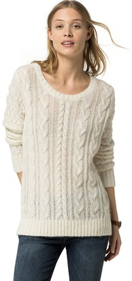 Sheer Wool Cableknit Sweater $149.50 thestylecure.com