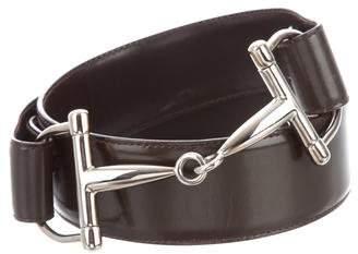 Gucci Leather Horsetbit Belt