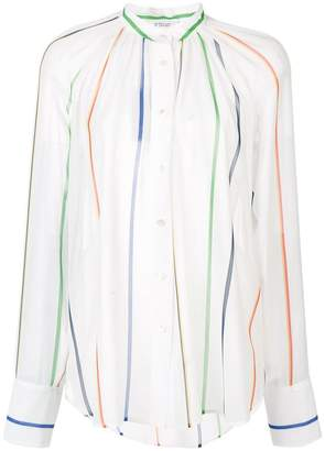 Derek Lam 10 Crosby Long Sleeve Gathered Button-Down Blouse