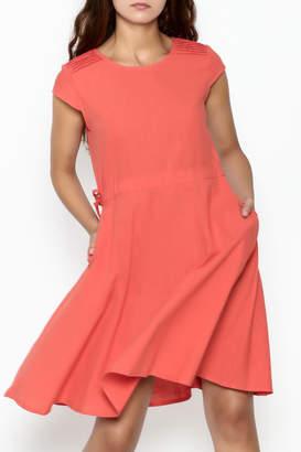 Fashion Pickle Orange Pocket Dress