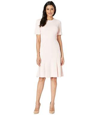 Donna Morgan Knit Fit and Flare Short Sleeve Dress