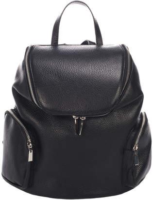 Italian Leather Multi Pocket Backpack