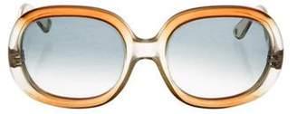 Givenchy Vintage Gradient Oversize Sunglasses.