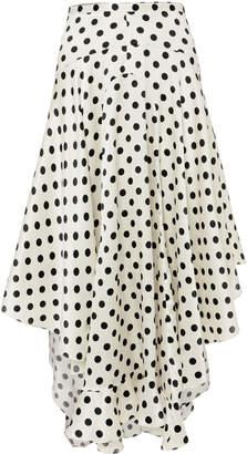 Caroline Constas Polka Dot Flounce Skirt