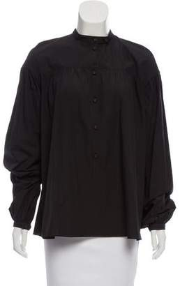 Tomas Maier Pleated Long Sleeve Top w/ Tags